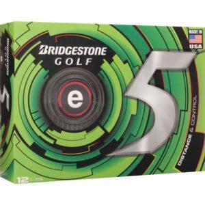 Bridgestone e5 Golfbälle mit all4golf Logo weiß