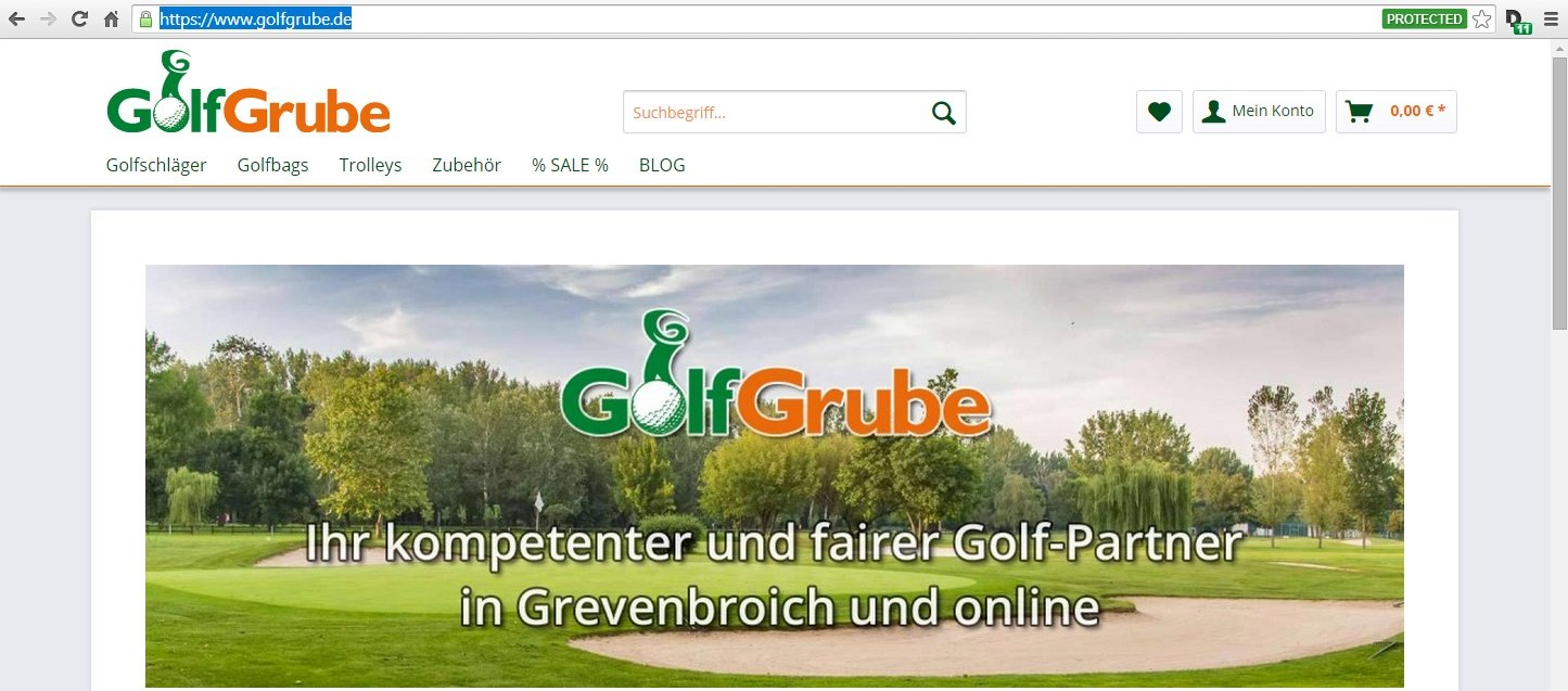 EvenParGolf Online Shop – Golfgrube