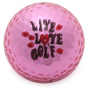 Navika Motivball Live-Love-Golf pink